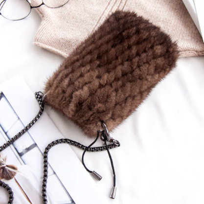 Mink phone bag