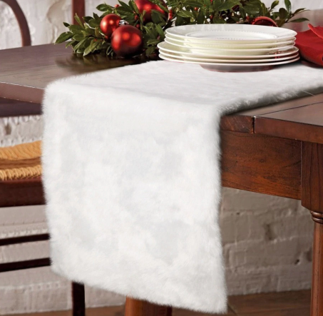 Fur table runner