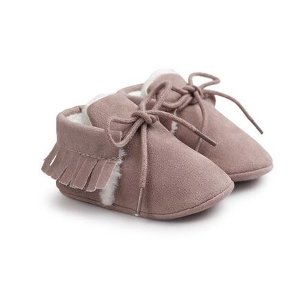 Suede crib shoes