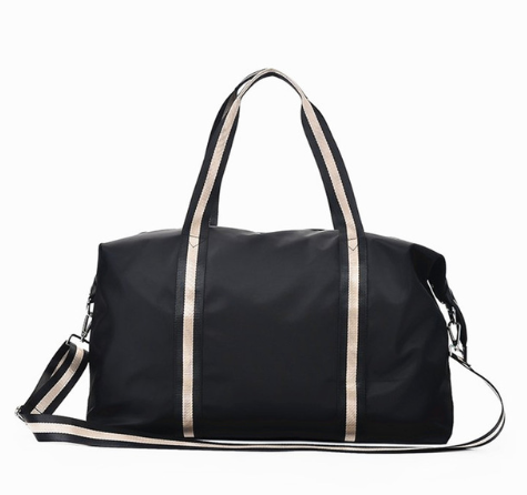 Stripe duffel bag