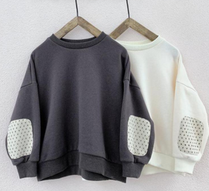 Elbow patch sweatshirt