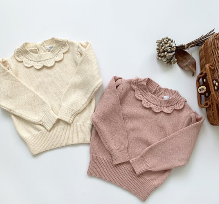 Scallop collar sweater