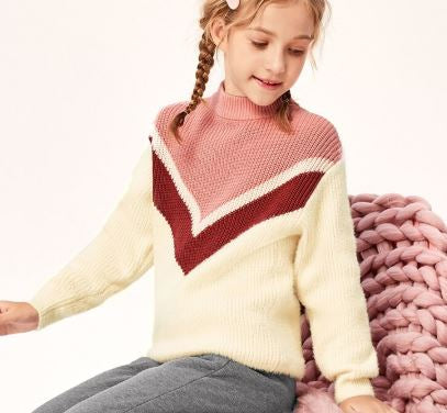 V stripe sweater
