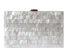 Marble stripe clutch