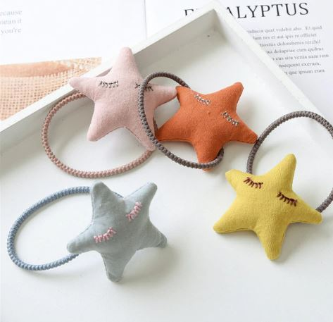 Puffy star hair tie