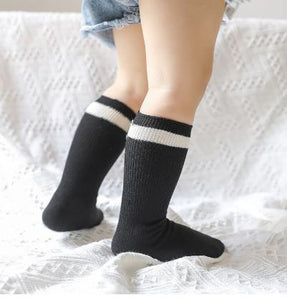 Ribbed stripe socks