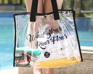 Transparent swimming bag