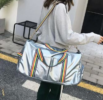 Rainbow straps overnight bag