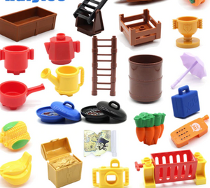 Building block dollhouse parts
