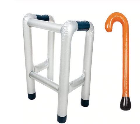 Inflatable walker/cane