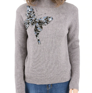 Sequin butterfly sweater