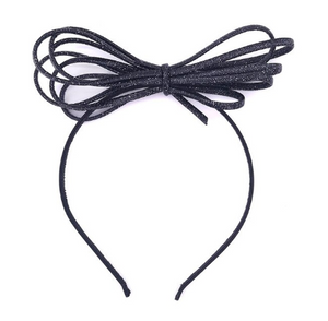 Rope bow headband
