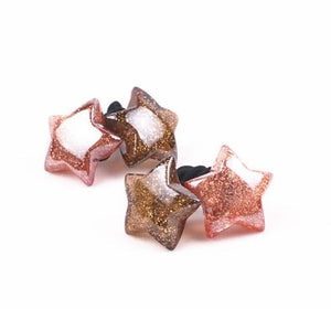 Glitter stars hair tie- 2 pc.