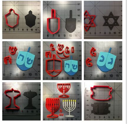 Chanuka cookie cutters
