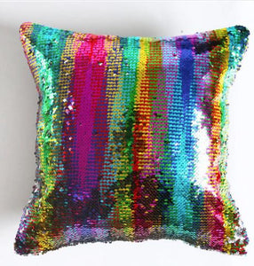 Sequin pillow cover