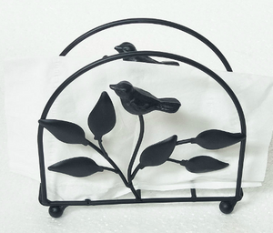 Iron bird napkin holder