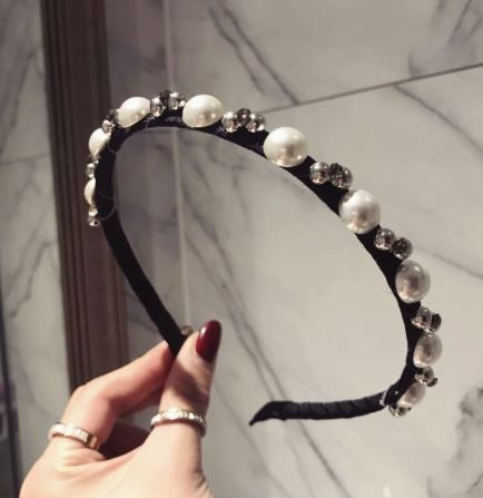 Pearl and gems headband