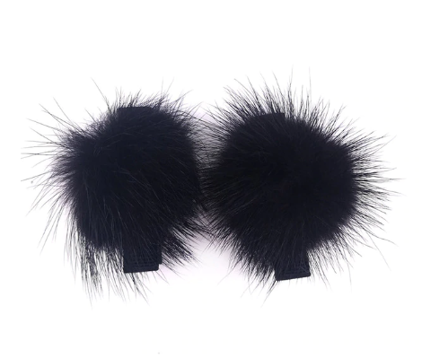 Fur ball hair clip 2 pc