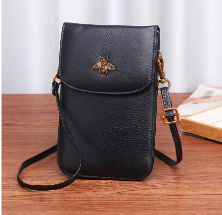Leather bee phone bag