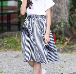 Plaid bows skirt