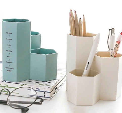Hexagon pen holder