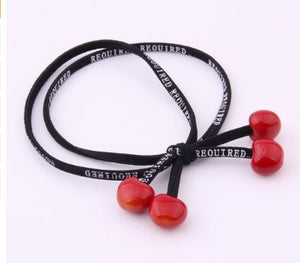 Cherry hair tie