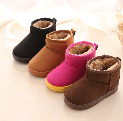 Plush winter boots