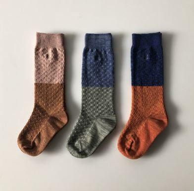 Colorblock textured socks
