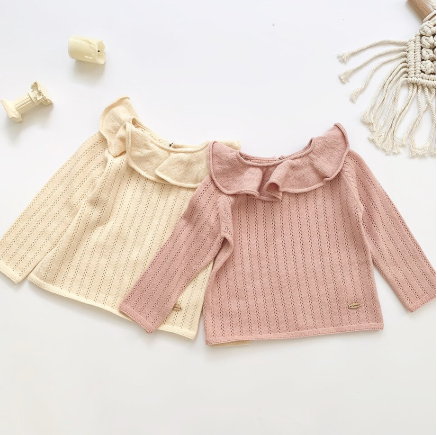 Ruffle collar sweater