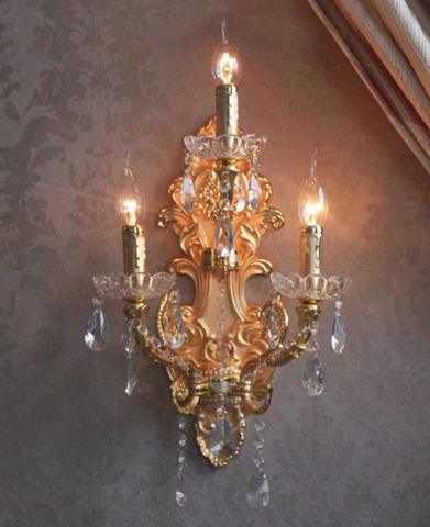 Wrought iron wall lamp