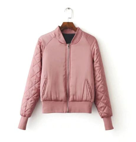 Quilted sleeve jacket