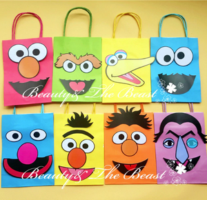 Sesame street bag 8 pc