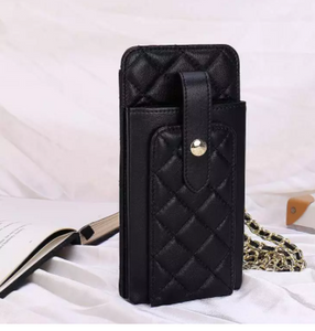 Quilted cowhide phone bag