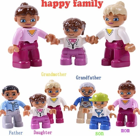 Building blocks family figures 6 pc.