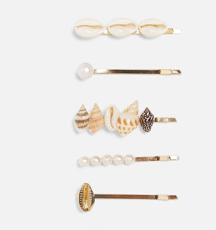 Sea shell hair pin