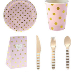 Gold dots tableware