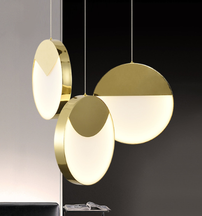 Gold hanging light fixture