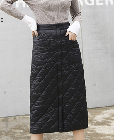 Quilted puffer skirt