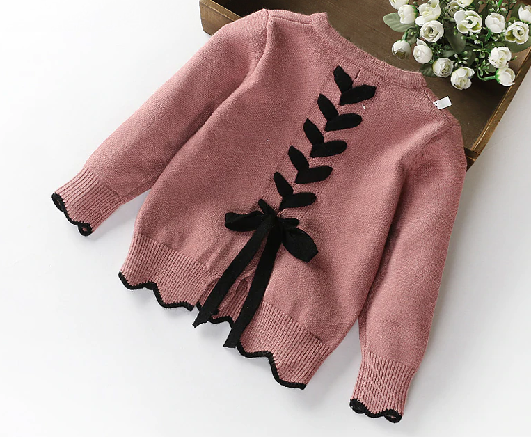 Lace up cardigan