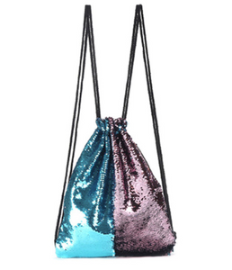 Reversible sequins backpack