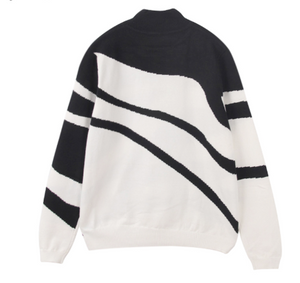 Black and white wave sweater