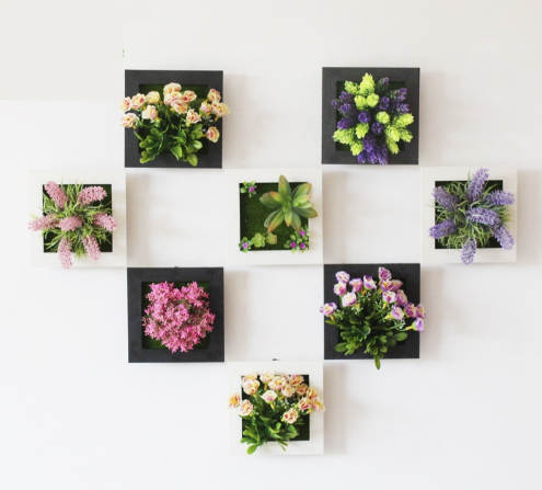 3d flowers frame wall art