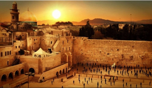 Jerusalem sunset background
