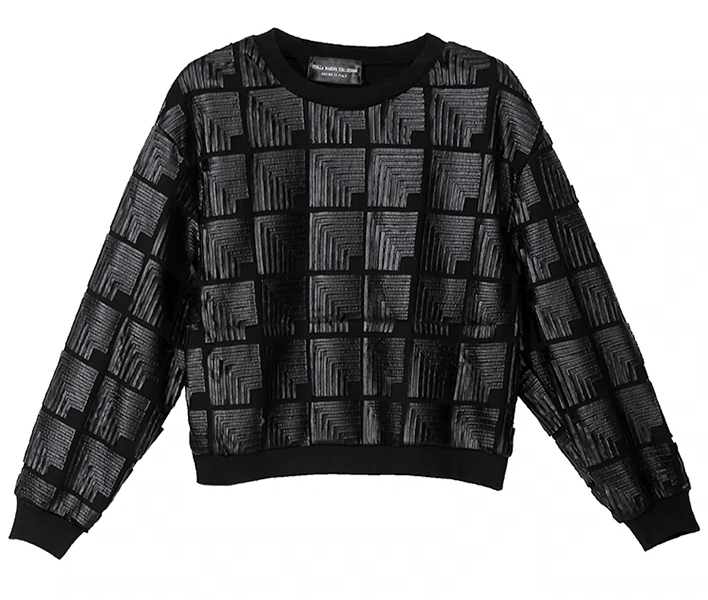Leather patches sweater