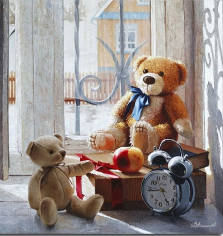Teddy bear diamond painting