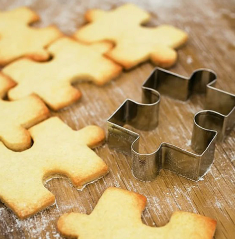 4 pc puzzle cookie cutter set