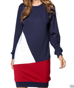 Colorblock sweat dress