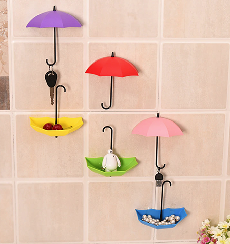 Umbrella hooks and trays 3 pcs