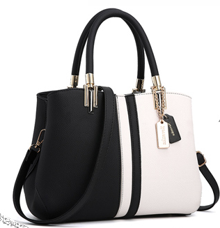 Leather colorblock bag