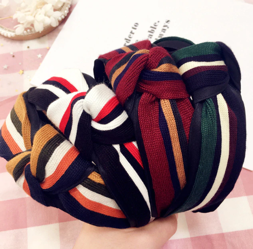 Stripe knot headband